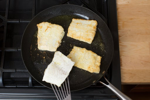 Cook the cod & serve your dish: