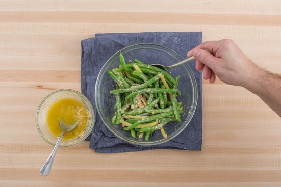 Dress the beans & serve your dish: