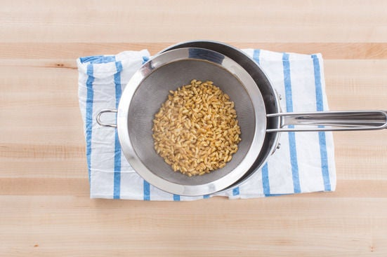 Cook the kamut: