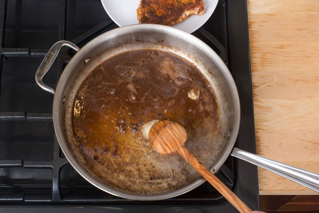 Make the pan sauce & plate your dish: