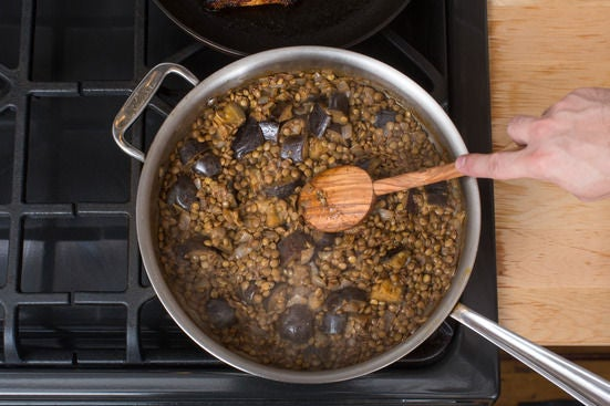 Add the lentils: