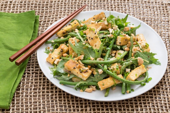 Chilled Tofu Salad With Miso-Ginger Vinaigrette Recipes — Dishmaps