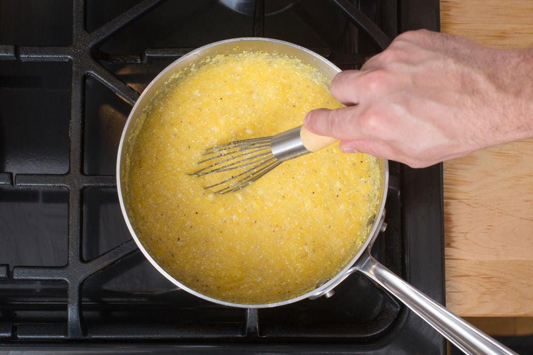 Cook the polenta: