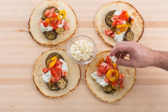 Assemble the pitas & serve your dish:
