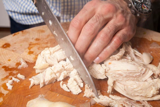 Chop the chicken: