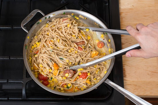 Finish the pasta & vegetables: