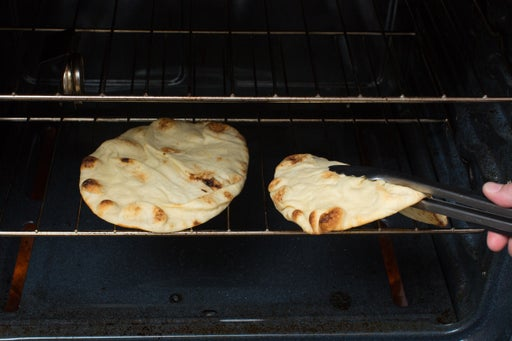 Toast the naan: