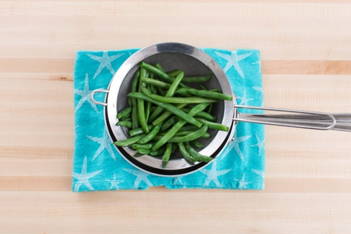 Blanch the beans:
