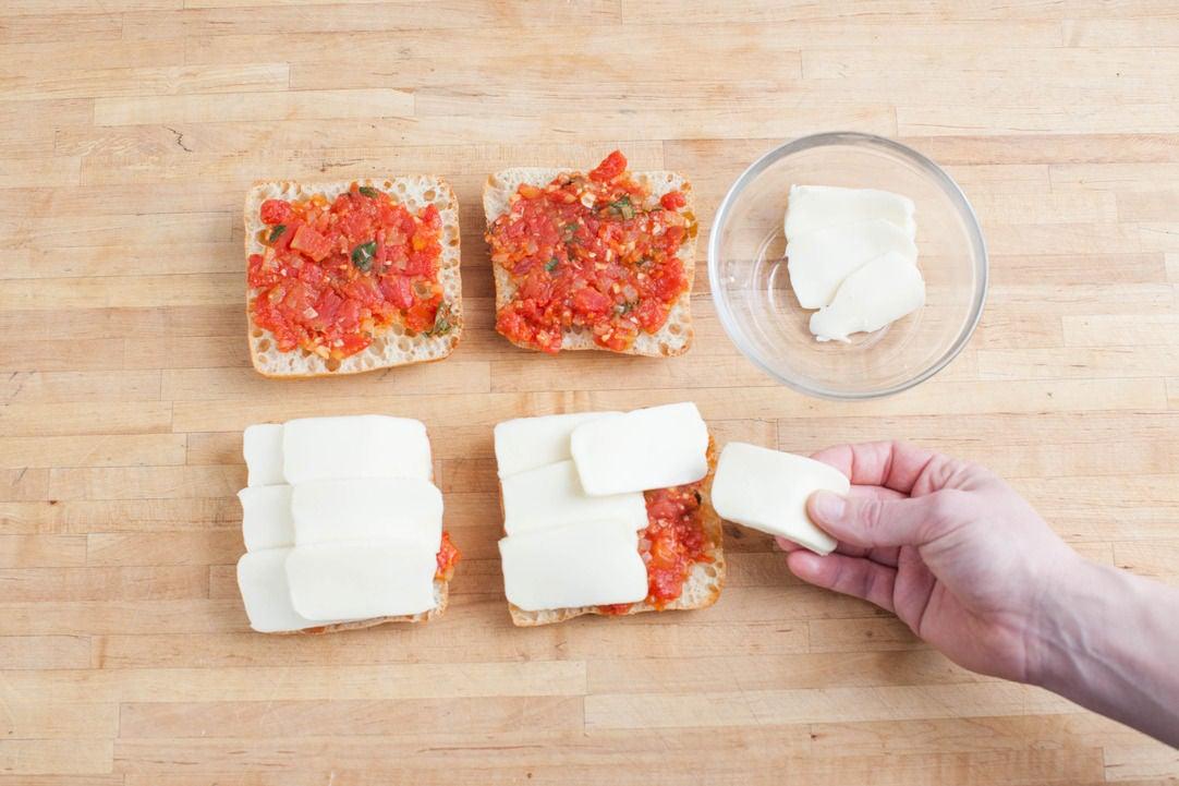 Assemble the panini: