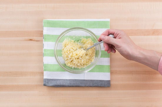 Make the Parmesan-breadcrumb topping: