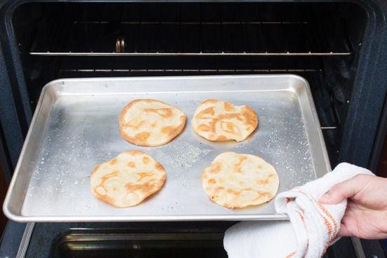 Bake the tortillas: