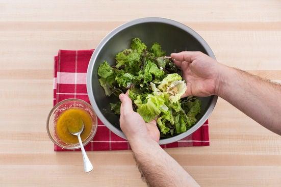 Make the salad & serve your dish: