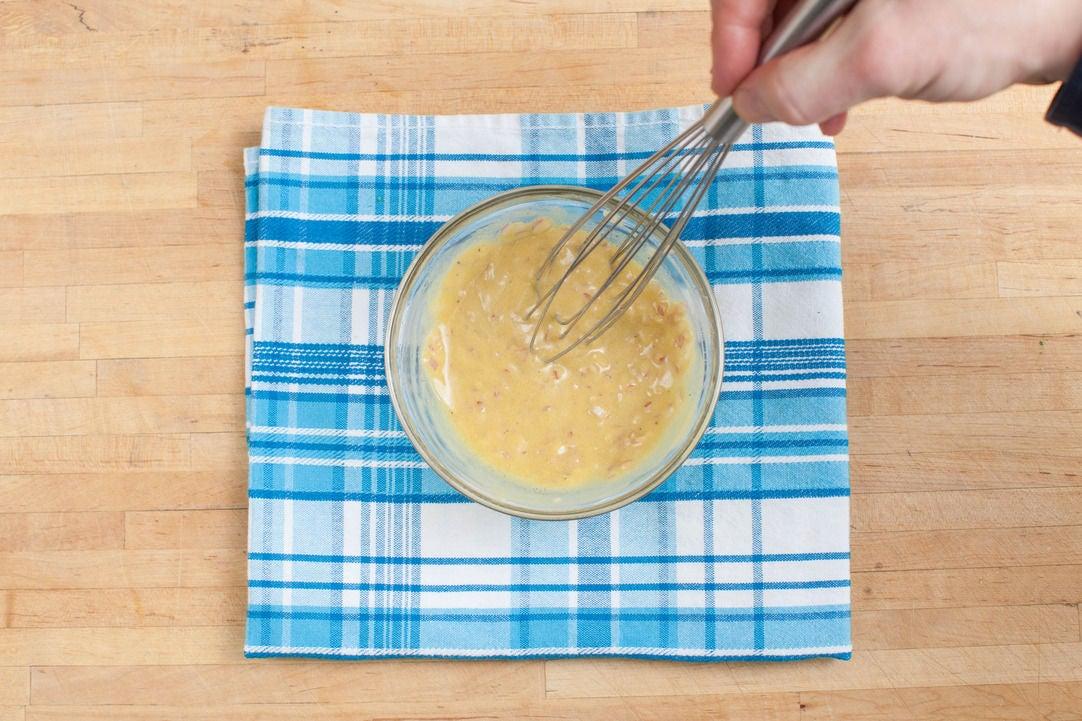Make the mustard vinaigrette: