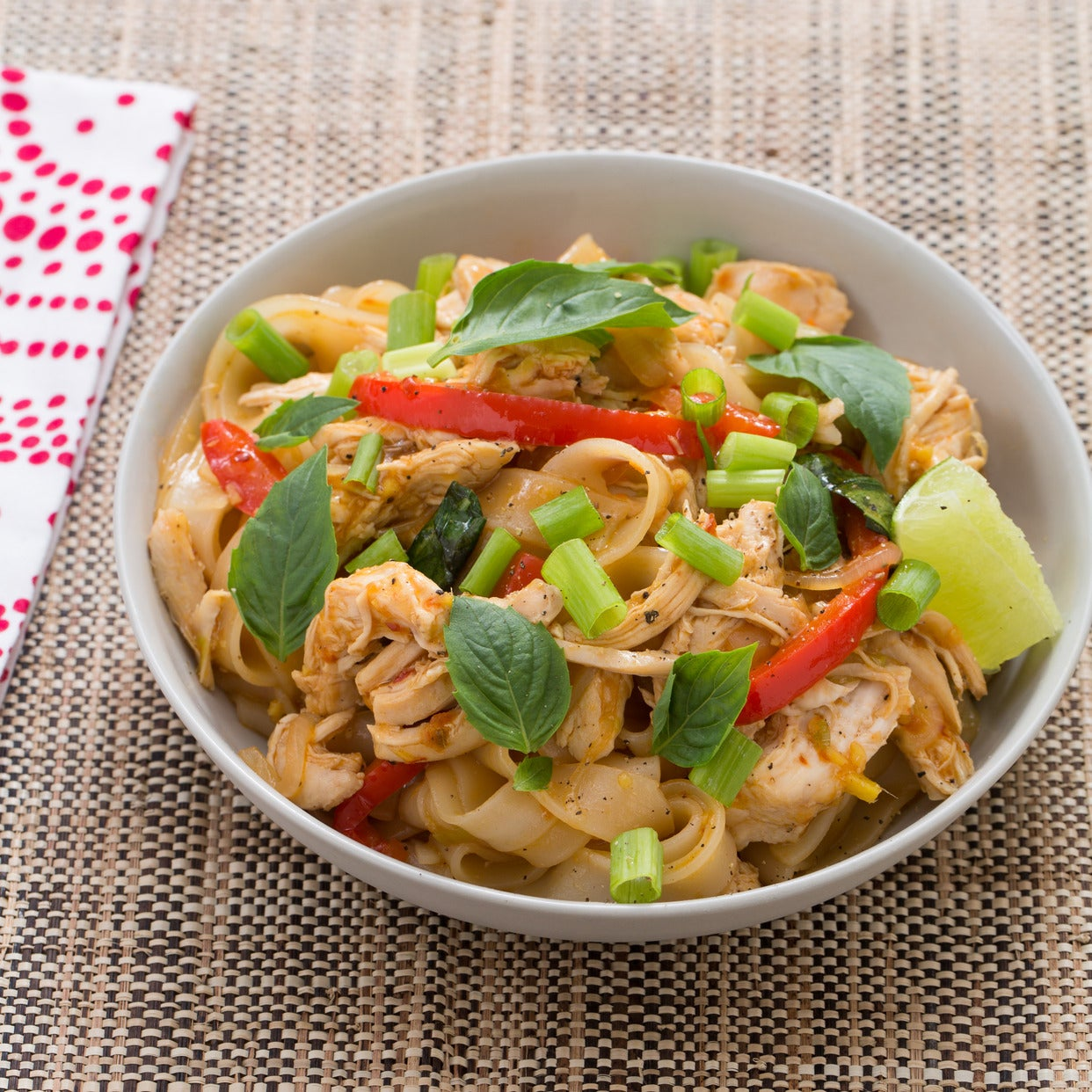 Thai Food Drunken Noodles Nutrition
