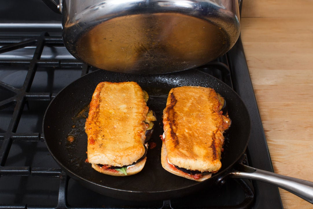 Assemble & toast the paninis: