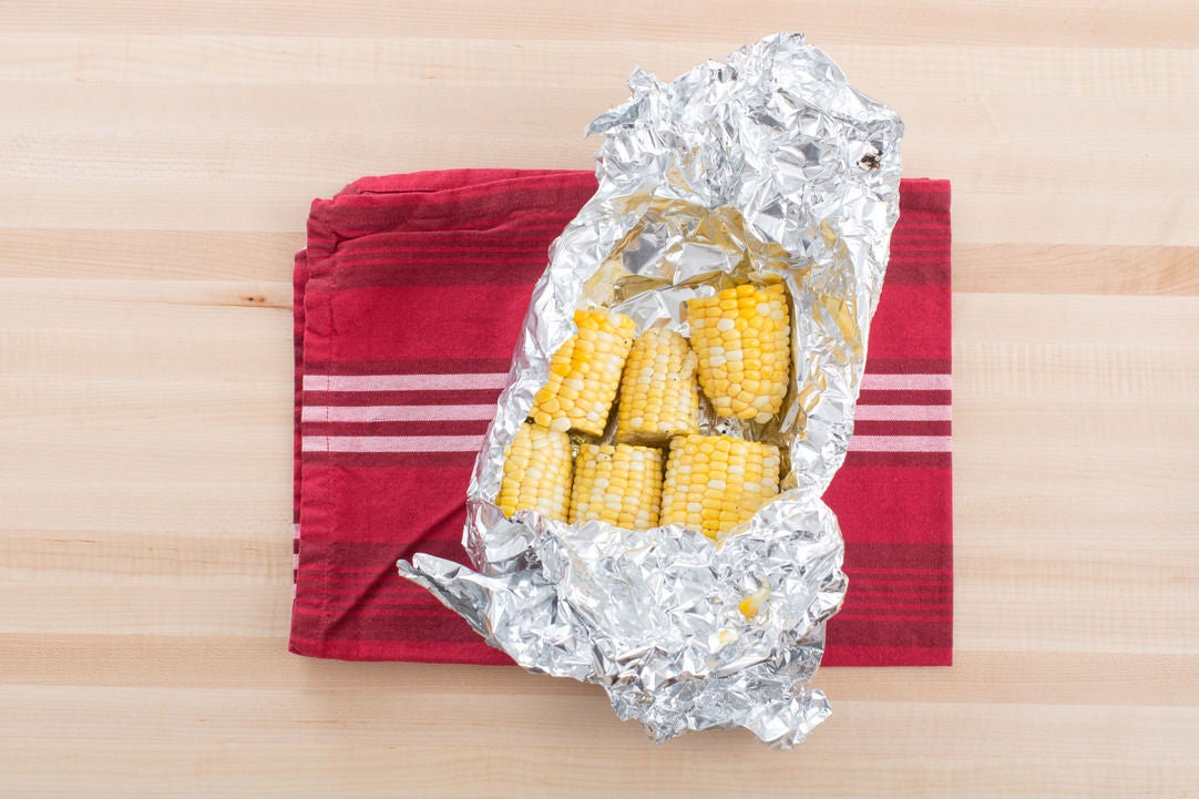 Roast the corn: