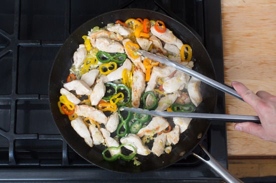 Start the chicken & vegetables: