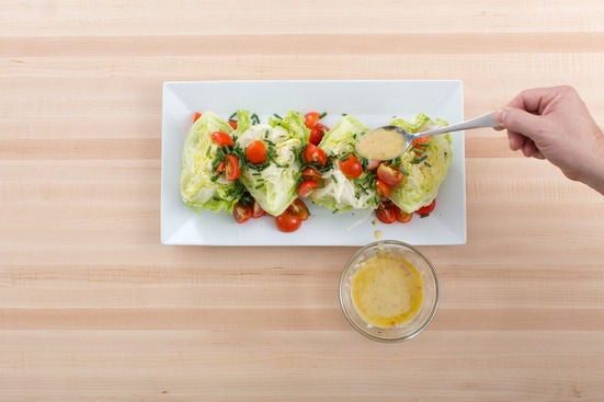 Make the vinaigrette & salad: