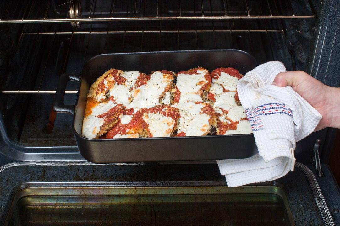Make the eggplant Parmesan: