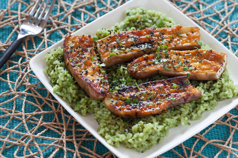 Recipe: Miso-Glazed Eggplant with Green Tea Rice - Blue Apron