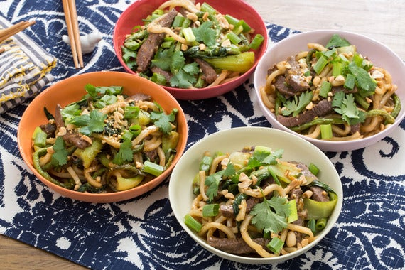 Recipe: Sweet & Sour Stir-Fried Beef with Udon Noodles, Green Beans ...