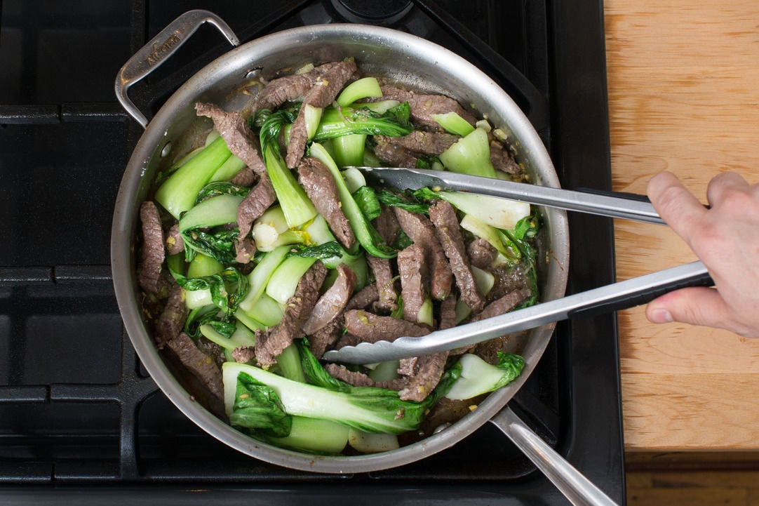 Add the bok choy: