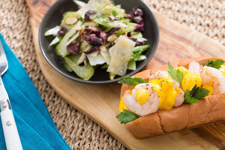 Blue apron seattle - Saut Ed Shrimp Sandwiches With Saffron Aioli Celery Parmesan Salad