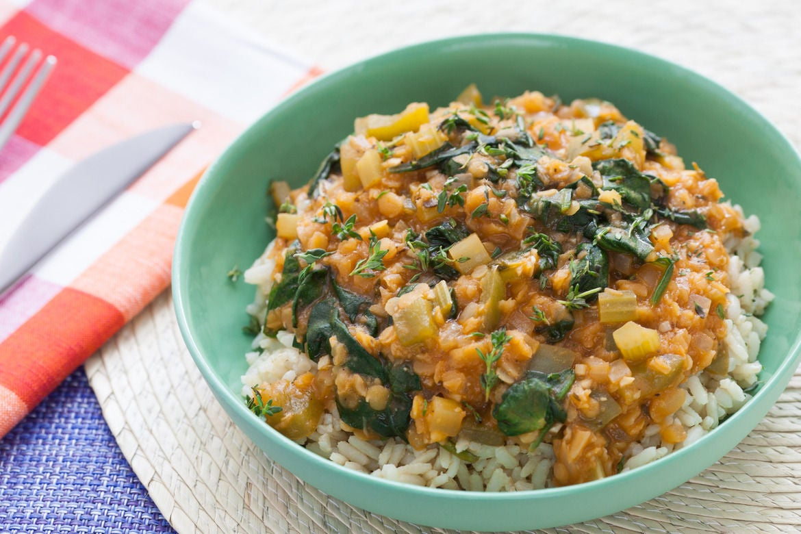 Recipe: Louisiana-Style Red Lentils with Brown Rice - Blue Apron