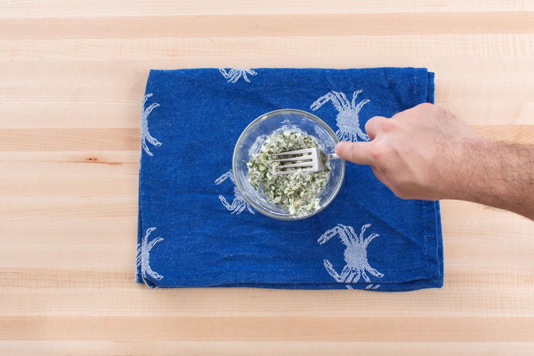 Make the lemon-herb butter: