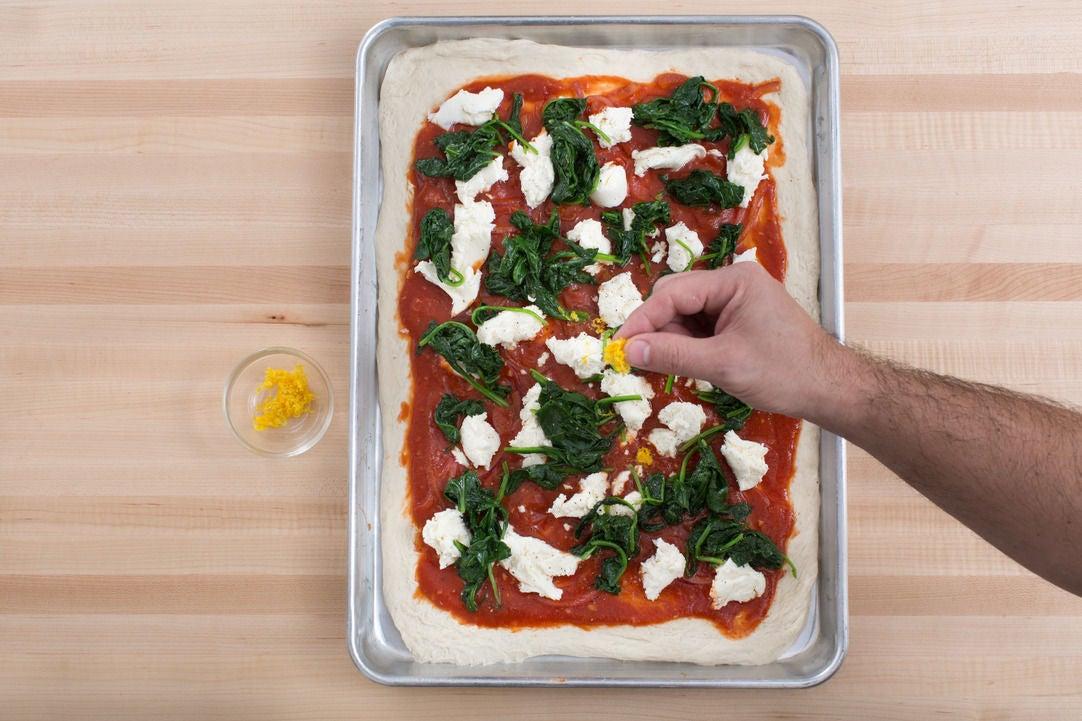 Prepare the dough & assemble the pizza