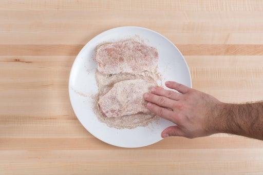 Coat the pork chops