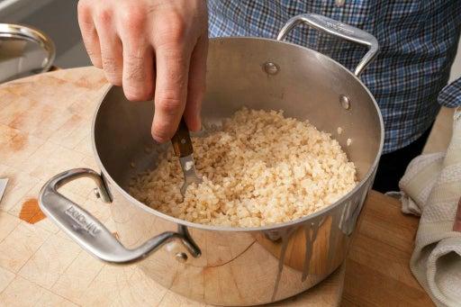 Make the rice: