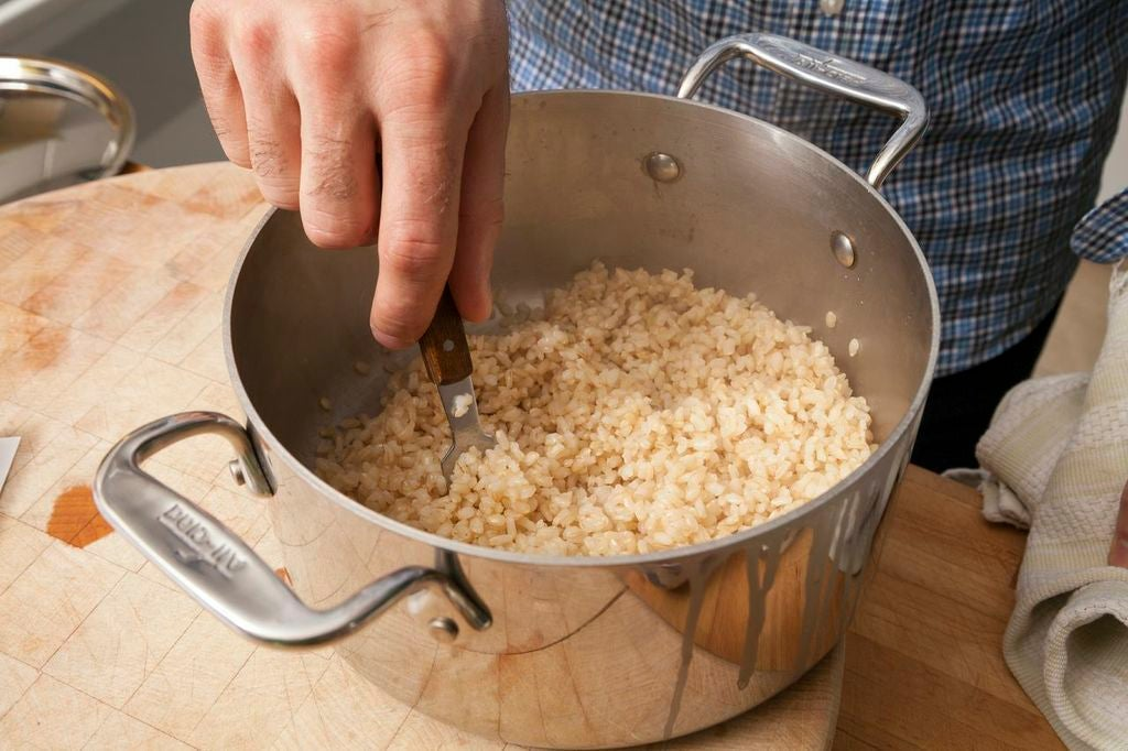 Make the rice: