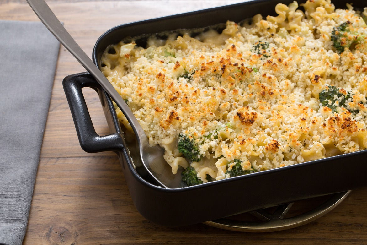 Creamy Broccoli & Fennel Casserole with Mafalda Pasta & Fontina Cheese