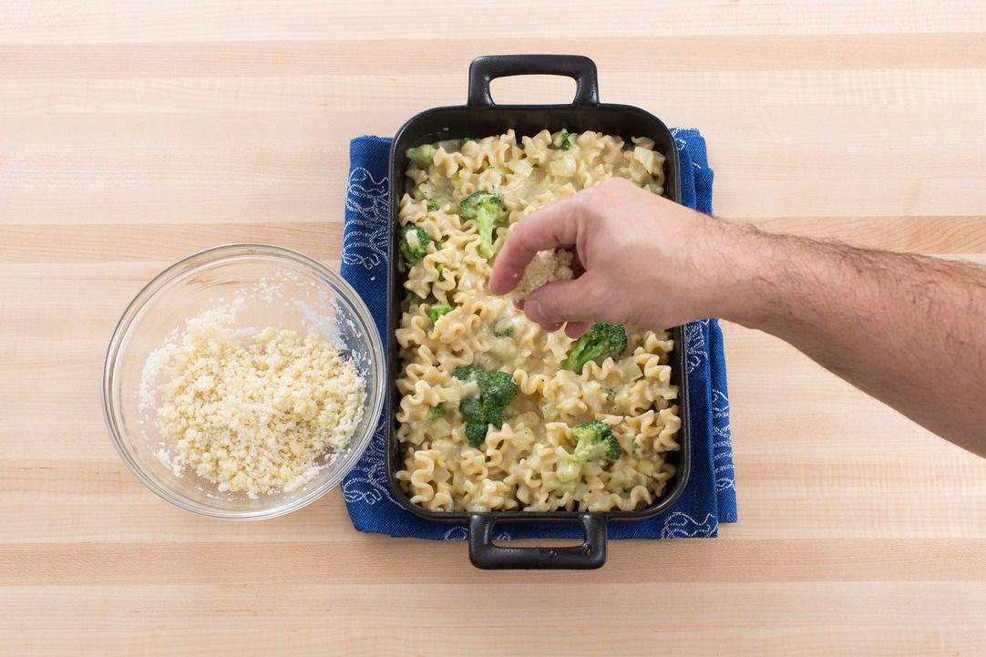 Finish the filling & assemble the casserole