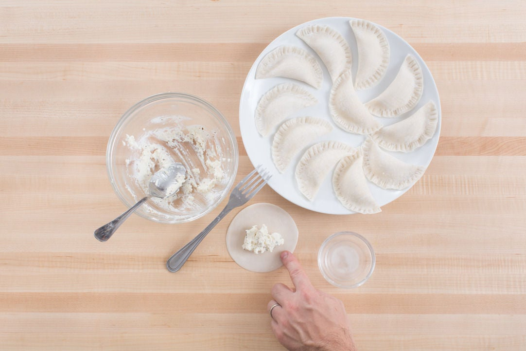 Form the pierogi:
