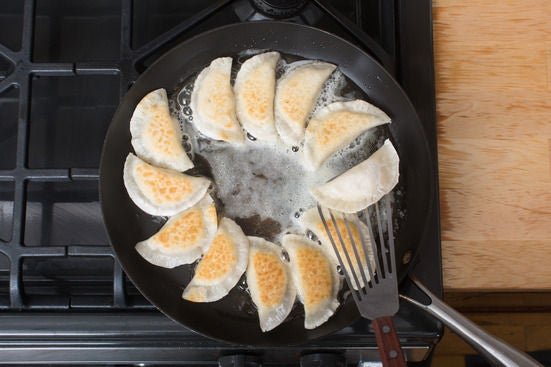 Cook the pierogi & brown the butter: