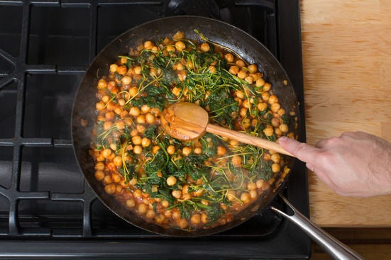 Make the chana masala: