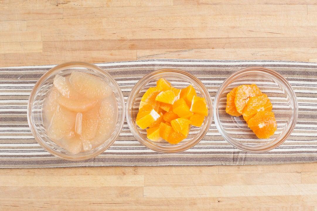 Prepare the citrus fruits: