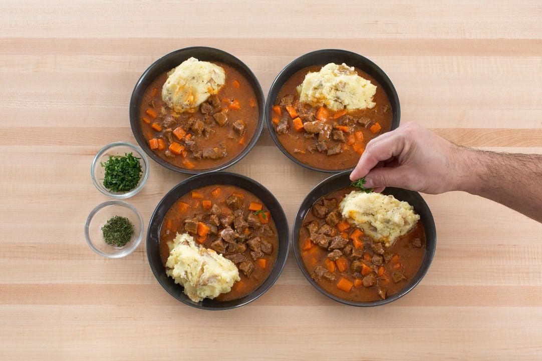 Serve your dish: