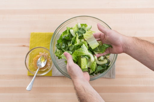 Make the salad and serve your dish: