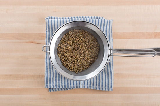 Start the lentils: