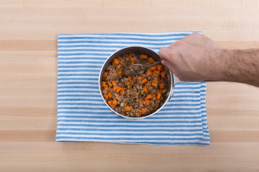 Finish the lentils: