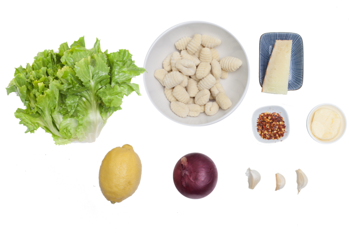 Fresh Gnocchi  with Escarole & Manchego Cheese