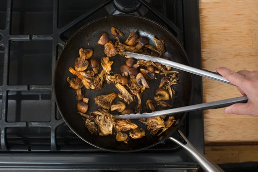 Cook the mushrooms