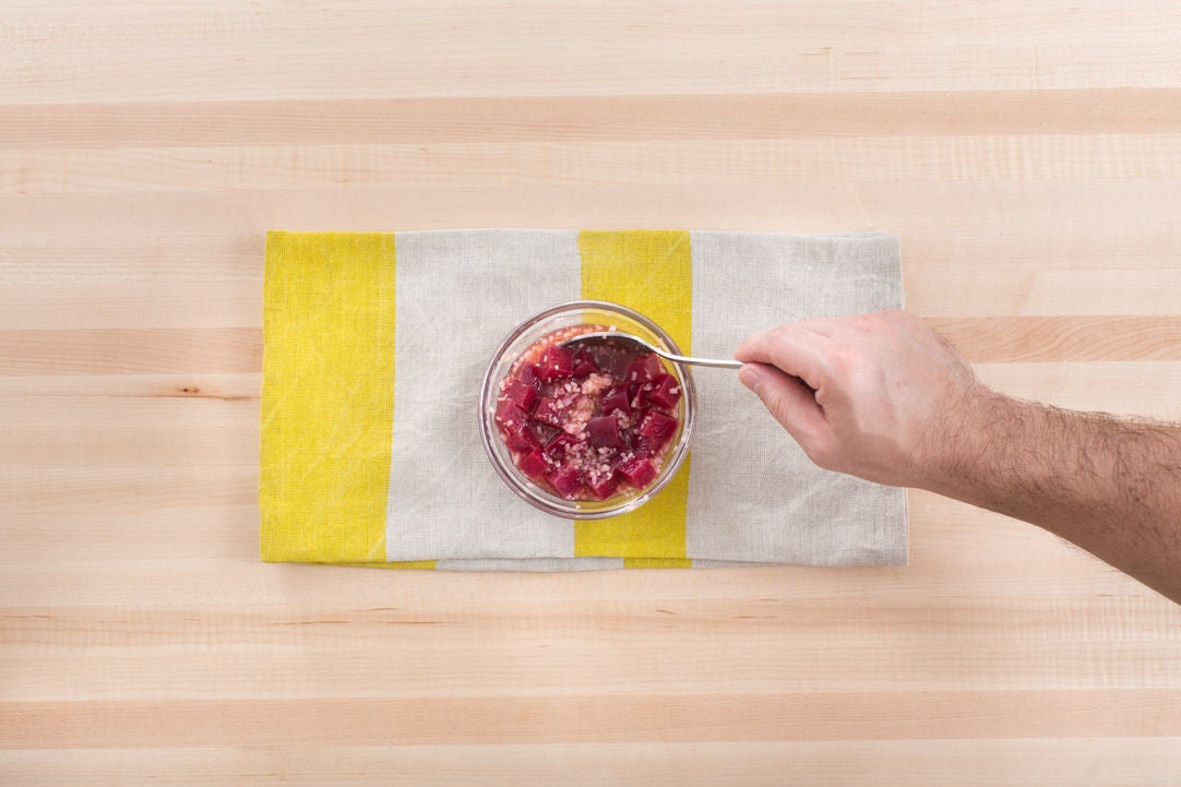 Cook & dress the beet: