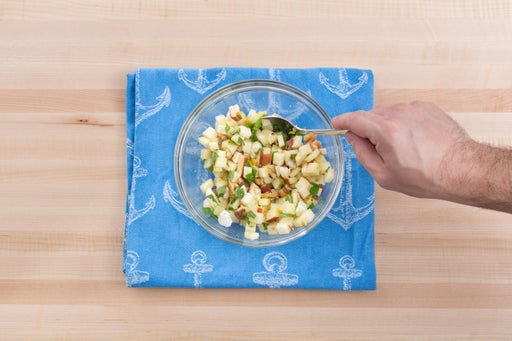 Make the apple-walnut salad: