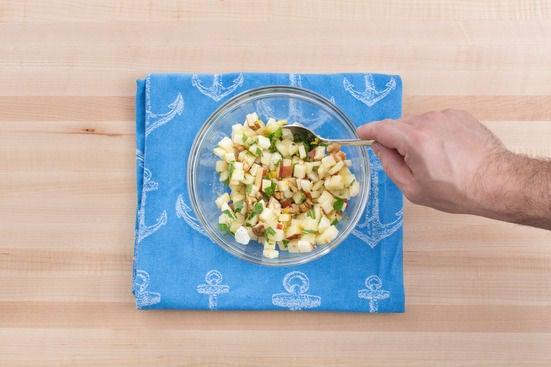 Make the apple-walnut salad: