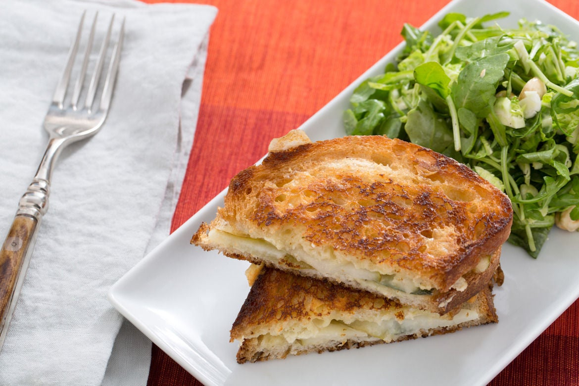 grilled cheese on chocolate bread brie and pear tart grilled pear ...