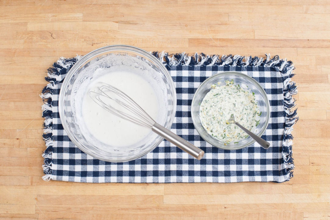 Make the remoulade sauce & fish batter: